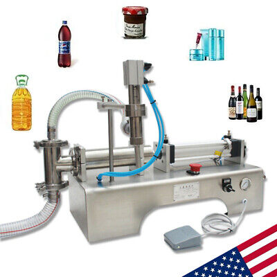 100-1000ml Auto Pneumatic Bottle Filler Liquid Filling Machine Stainless Steel