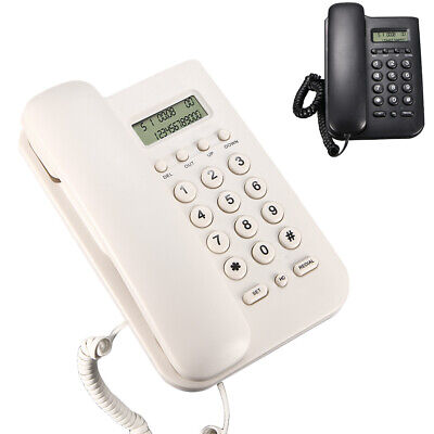 Home Office Corded Phone Answering System Wall Mount Phones Lcd Display Hot