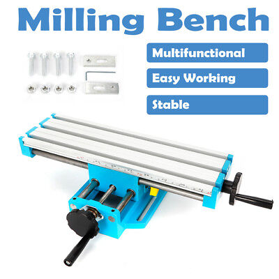 Mini Bench Milling Machine Fixture Worktable X Y Cross Slide Table Drill Vise Us
