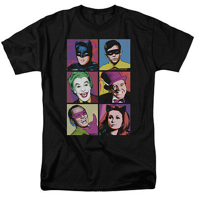 Batman Classic 60's TV Show CAST Pictures Licensed Adult T-Shirt All Sizes