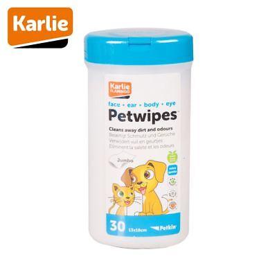 Karlie Petkin PETWIPES - Reinigungstücher für Hunde/Katzen Pflegetücher sanft