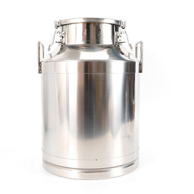 50l 13.25gallon Stainless Steel Milk Can Wine Pail Bucket Tote Jug 350mm13.8
