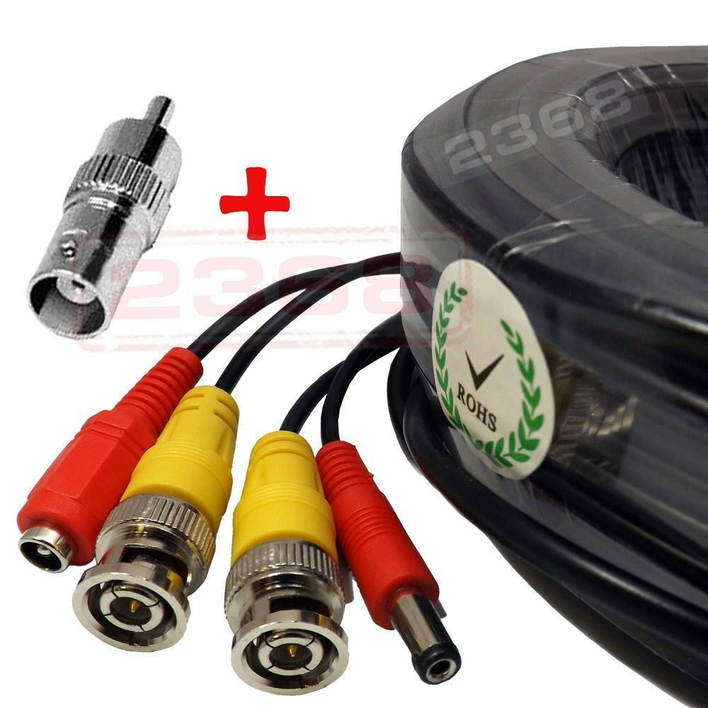 4x150ft Security Camera Video Power Cable Bnc Rca Cctv Dv...