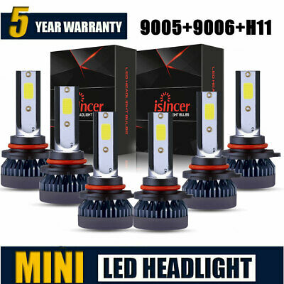 Combo Mini 90059006H11 LED Headlight Fog Light Hi Low Bulb 6000K 360W 78000LM