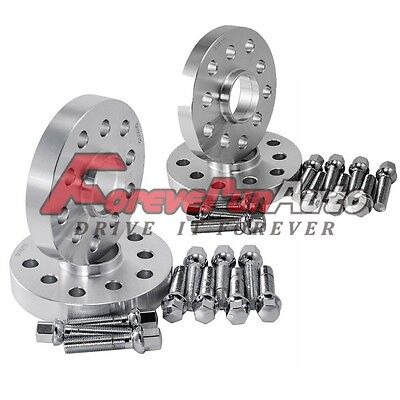 2PCS 15mm & 2PCS 25mm Hubcentric 5x100 5x112 Wheel Spacers For Audi VolksWagen