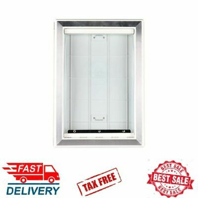 """Extreme Weather Pet Door Dog Cats Exterior Entry Large Heavy Duty Safe XL Frame"