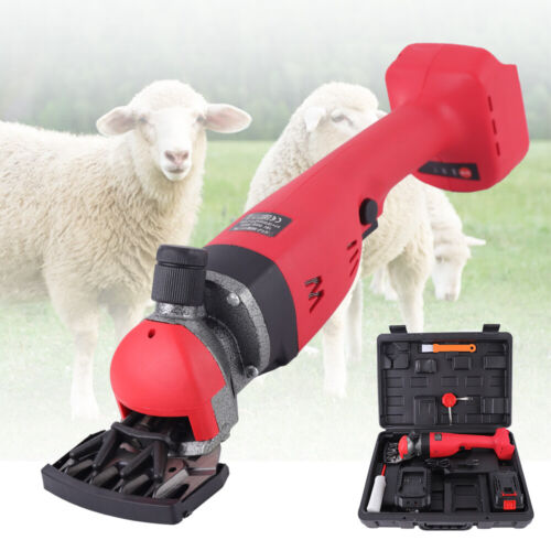 300W Cordless Electric Sheep Goat Shears Wireless Shearing Grooming Clipper - $209.00