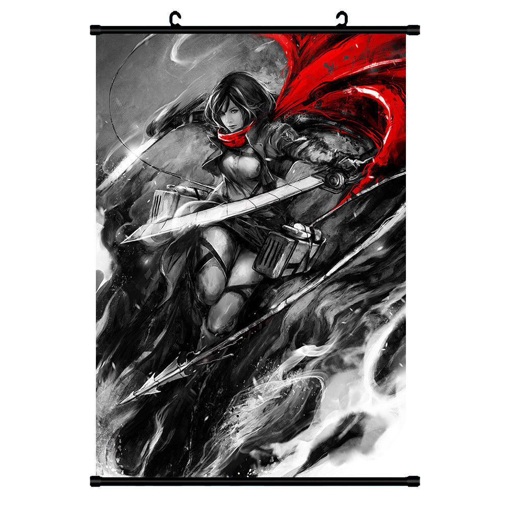 Attack On Titan Japanese Anime Poster Wall Scroll 60*90CM