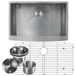 16 Gauge Stainless Steel A Front Farmhouse Kitchen Sink Undermount 36 Inch