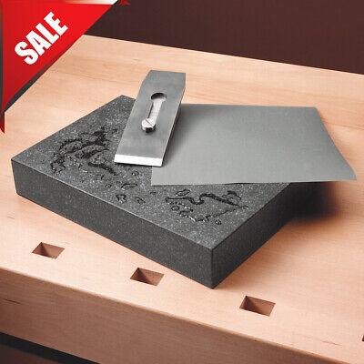 Black Granite Surface Plate Grade A Ledge 0 9 X 12 X 2 Sharpening Stone
