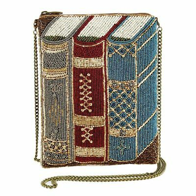 Mary Frances Best Seller mini Books Library Nerd Gold Clutch Bag Handbag NEW (Mini Book Bags)