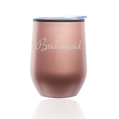 Stemless Wine Tumbler Coffee Travel Mug Glass Bridesmaid Bachelorette Wedding - Bachelorette Tumblers