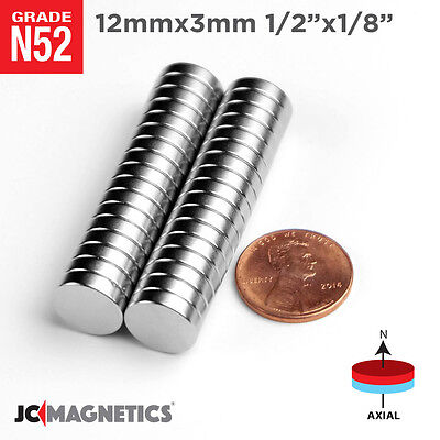 12 100 500pcs 12mm X 3mm 12 X 18 N52 Strong Rare Earth Neodymium Magnet Disc