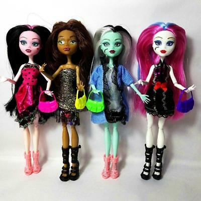 4pcs/set Doll Monster High New Style Moveable Body Joint Kids Christmas Gift Toy