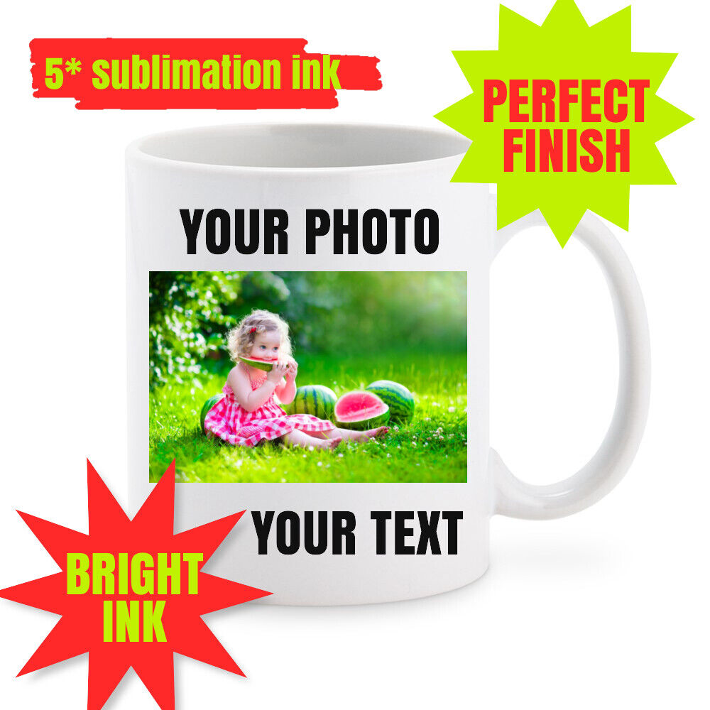 Personalised Photo Text Mug Cup Custom Design Name Image Logo Text Coffee Tea