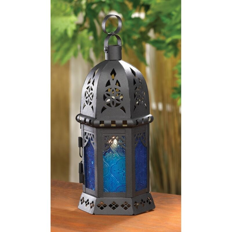MOROCCAN-STYLE CANDLE LANTERNS IN VARIOUS COLORS