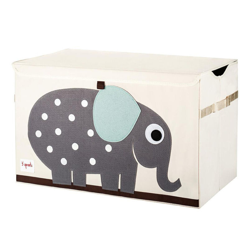 3 Sprouts UTCELE Toy Chest Storage Bin for Kids Playroom, Elephant (Used)