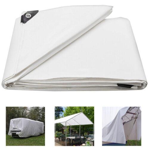Windscreen4less 8 x 10 Heavy Duty 10 Mil Waterproof White Poly Tarp