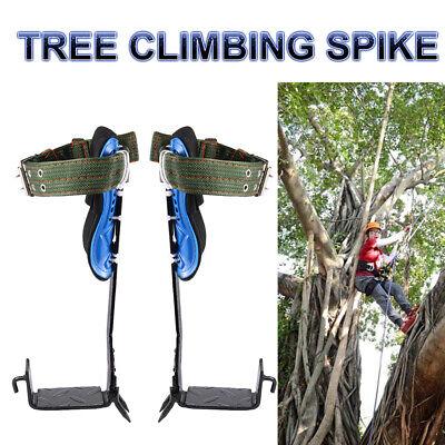 1 Pair Tree Pole Climbing Spike Set Lanyard Rope Rescue Wear-resistant Belt