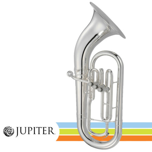 Jupiter JEP710S Key of Bb 3 Valve Silver Plated Baritone Euphonium with Case