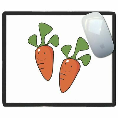 Carrots - Thin Pictoral Plastic Mouse Pad Mat Badgebeast
