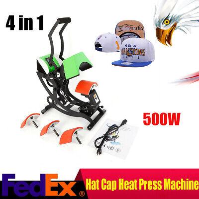 Dual Digital 4 In 1 0-450 Heat Sublimation Transfer Press Machine Hat Cap