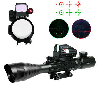 4-12X50 EG Tactical Rifle Scope with Holographic 4 Reticle Sight & Red Laser RF