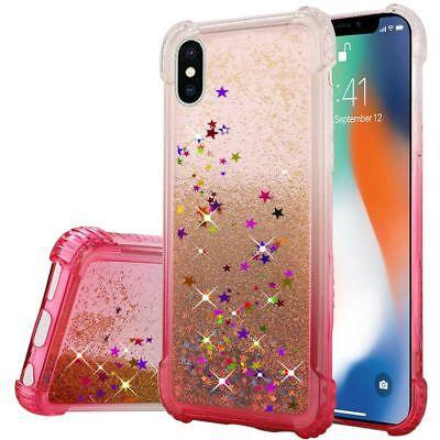 035 Glitter (For Apple iPhone XS Max Bling Glitter Liquid Quicksand Shockproof TPU Phone Case )