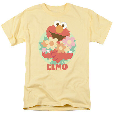 SESAME STREET FLOWERS FOR YOU ELMO Licensed Adult Men's Graphic Tee Shirt SM-3XL](Sesame Street Shirts For Adults)