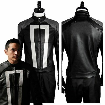 Ghost Rider Leather Jacket Agents Of Shield Season 4 Robbie Reyes Biker Jacket