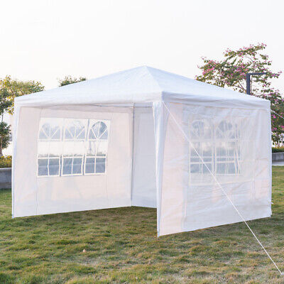 3 x 3m Waterproof Three Sides Tent with Spiral Tubes White