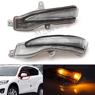 LH+RH LED Rearview Door Wing Mirror Light Indicator Lamp For Mazda CX-5 KE CX-3