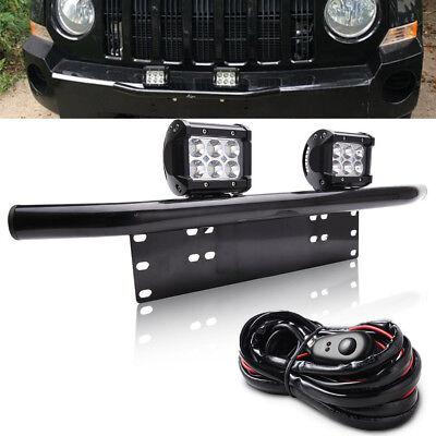 Fit Ford Ranger/Explorer/Escape Bull Bar License Bumper 18W LED Light Mount Kit