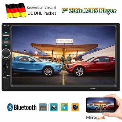 7ZOLL Doppel-DIN MP5 MP3-Autoradio Touchscreen BLUETOOTH-FREISPRECH USB AUX IN (Autoradio 7 Zoll Touchscreen)