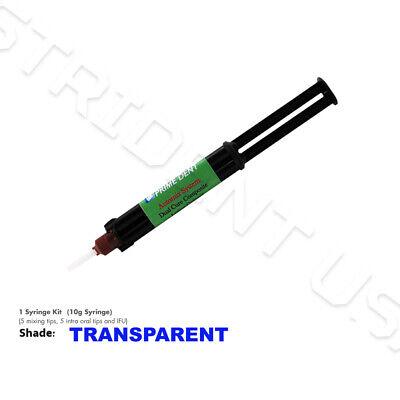 Prime Dent Dual Cure Automix Dental Luting Cement 10 Gr Syringe Transparent