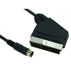1.5m SCART to SVHS S-Video 4 Pin Male Cable Lead Gold Connectors