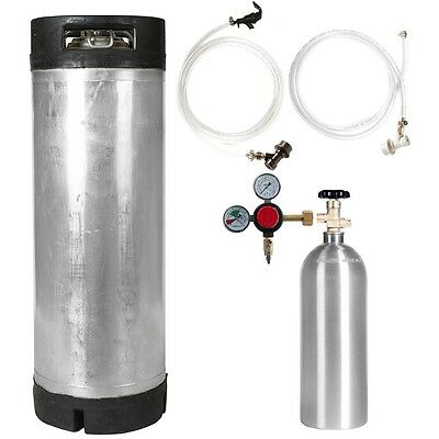 Keg Kit 5 Gal Ball Lock Used Keg 5 Lb Co2 Tank Regulator Parts - Ships Free