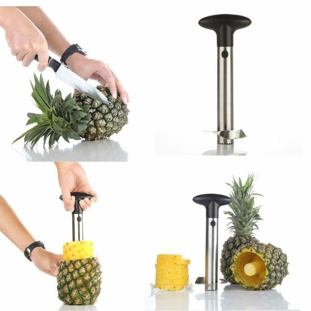 Stainless Steel Pineapple Corer Slicer Peeler for Diced Frui