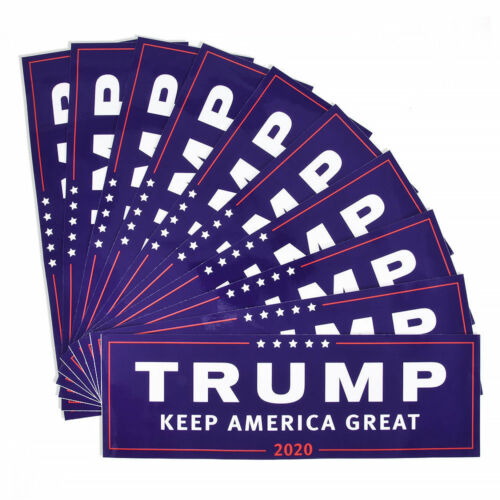 10PCS Donald Trump For President 2020 Bumper Sticker Keep America Great US KY