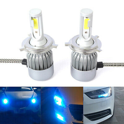 2x H4 9003 8000K Ice Blue LED Headlights Bulbs 55W 8000LM High&Low Beam Lamp