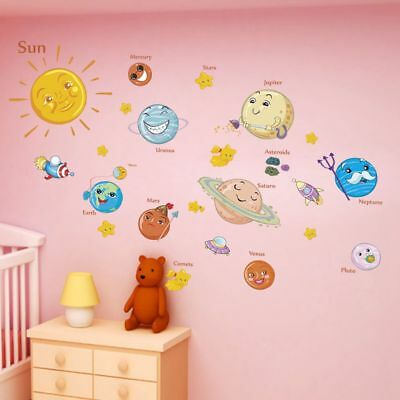 Bedroom Decor Children Decals Outer Space Planets Solar System Wall Stickers - Outer Space Decor