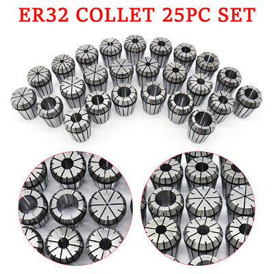 Er32 R8 Collet 25pc Set 116-34 16th32nd Morsetapper Accuracy Bt Spring Hot