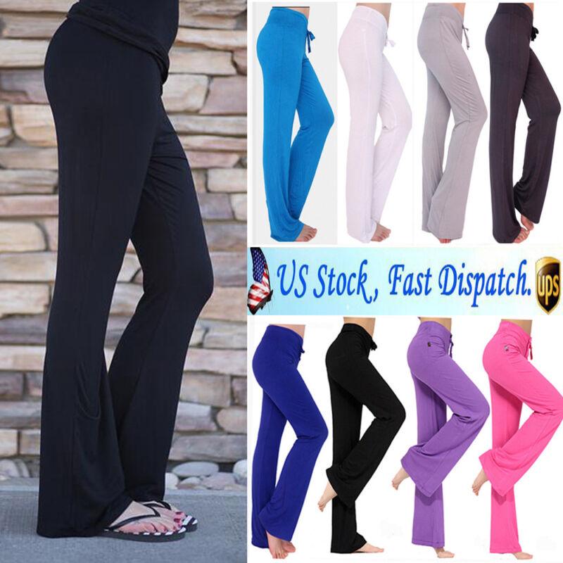Women High Waist Sports Yoga Pants Leggings Printed Fitness Gym Stretch Trousers 14