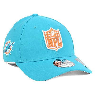 Miami Dolphins New Era Nfl Shield Team Logo 3930 Fantasy Football Cap Hat Mens