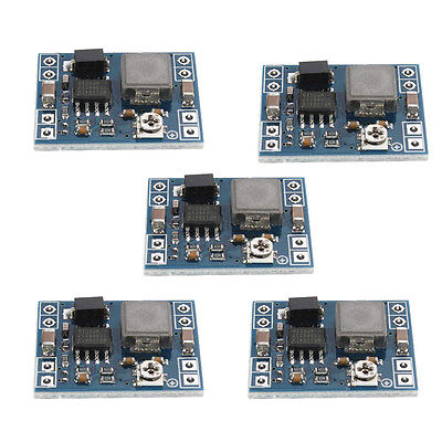 5pc Mini Dc-dc Converter Step Down Module Adjustable Power Supply Output 0.8-20v