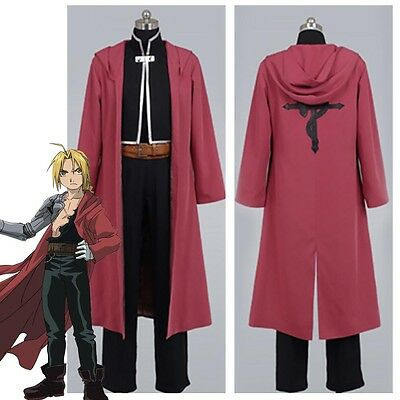 Fullmetal Alchemist Halloween Costume (Fullmetal Alchemist Edward Elric Halloween Cosplay Costume Suit Uniform Coat)