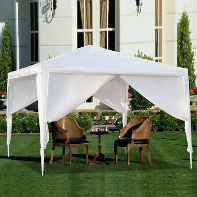 """10""""x10"""" Outdoor Party Tent Gazebo Portable Shelter Instant Canopy W/4 Sidewalls"""