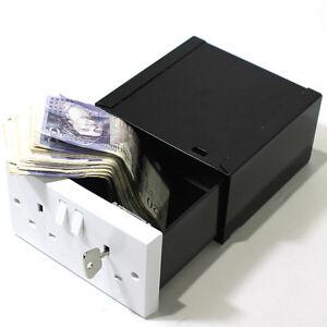 Imitation Wall Plug Socket Diversion Safe Stash Box Security Hidden Compartment