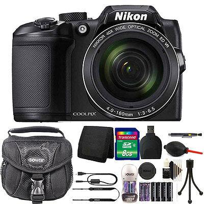 Nikon Coolpix B500 Digital Camera 40x Optical Zoom 2 Battery Charger Bundle