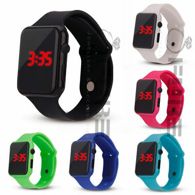 Electronic Digital Women/Men Kids/Child/Boy's/Girl Waterproof LED Display Watch